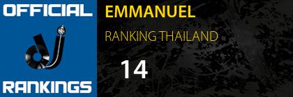 EMMANUEL RANKING THAILAND