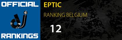EPTIC RANKING BELGIUM