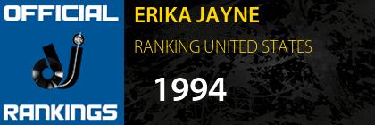 ERIKA JAYNE RANKING UNITED STATES