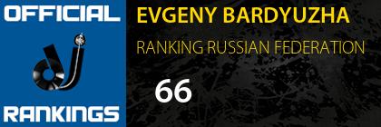 EVGENY BARDYUZHA RANKING RUSSIAN FEDERATION