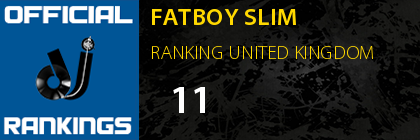 FATBOY SLIM RANKING UNITED KINGDOM