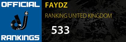 FAYDZ RANKING UNITED KINGDOM