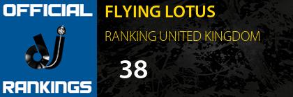 FLYING LOTUS RANKING UNITED KINGDOM
