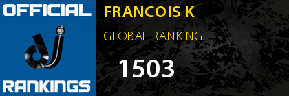 FRANCOIS K GLOBAL RANKING