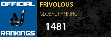 FRIVOLOUS GLOBAL RANKING