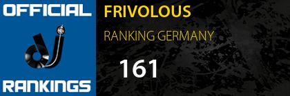 FRIVOLOUS RANKING GERMANY