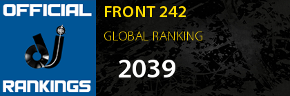 FRONT 242 GLOBAL RANKING