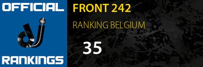 FRONT 242 RANKING BELGIUM