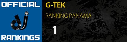 G-TEK RANKING PANAMA