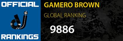 GAMERO BROWN GLOBAL RANKING