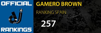 GAMERO BROWN RANKING SPAIN