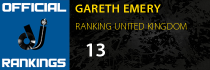 GARETH EMERY RANKING UNITED KINGDOM