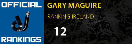 GARY MAGUIRE RANKING IRELAND
