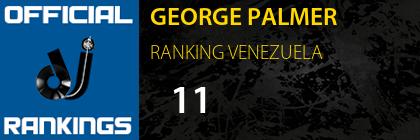 GEORGE PALMER RANKING VENEZUELA