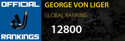 GEORGE VON LIGER GLOBAL RANKING