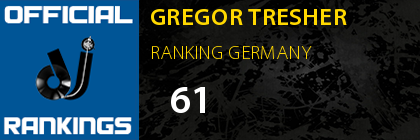 GREGOR TRESHER RANKING GERMANY