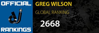 GREG WILSON GLOBAL RANKING