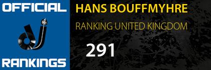 HANS BOUFFMYHRE RANKING UNITED KINGDOM