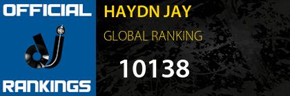 HAYDN JAY GLOBAL RANKING