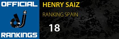 HENRY SAIZ RANKING SPAIN