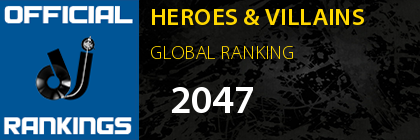 HEROES & VILLAINS GLOBAL RANKING