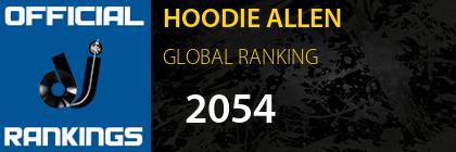 HOODIE ALLEN GLOBAL RANKING