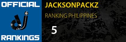 JACKSONPACKZ RANKING PHILIPPINES