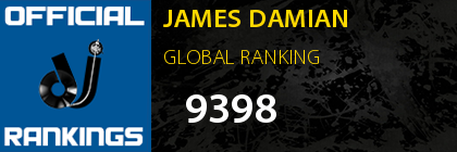 JAMES DAMIAN GLOBAL RANKING