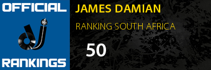 JAMES DAMIAN RANKING SOUTH AFRICA