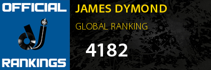 JAMES DYMOND GLOBAL RANKING