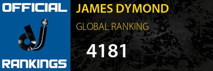 JAMES DYMOND GLOBAL RANKING