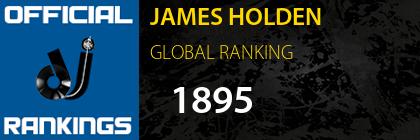 JAMES HOLDEN GLOBAL RANKING
