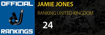 JAMIE JONES RANKING UNITED KINGDOM