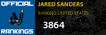 JARED SANDERS RANKING UNITED STATES