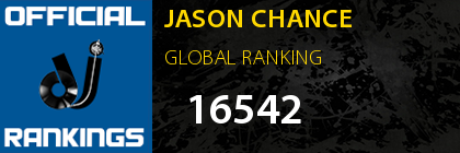 JASON CHANCE GLOBAL RANKING
