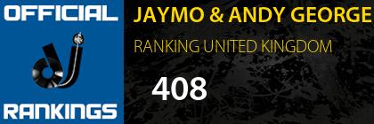 JAYMO & ANDY GEORGE RANKING UNITED KINGDOM