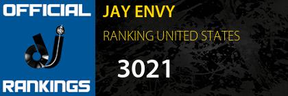 JAY ENVY RANKING UNITED STATES
