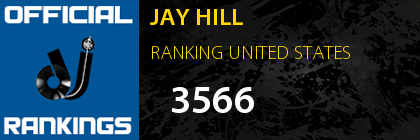 JAY HILL RANKING UNITED STATES