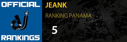 JEANK RANKING PANAMA