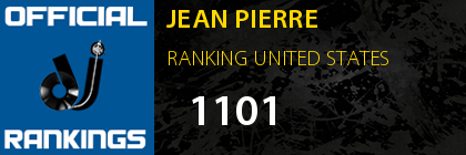 JEAN PIERRE RANKING UNITED STATES