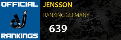 JENSSON RANKING GERMANY