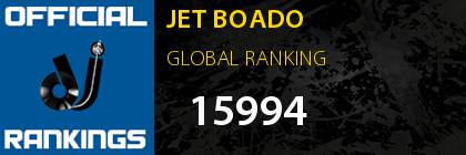 JET BOADO GLOBAL RANKING
