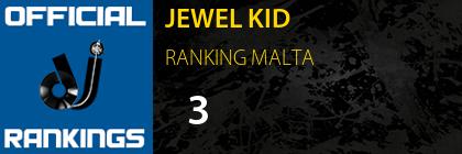 JEWEL KID RANKING MALTA