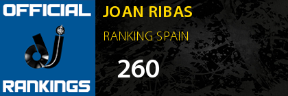 JOAN RIBAS RANKING SPAIN