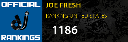 JOE FRESH RANKING UNITED STATES