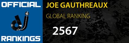 JOE GAUTHREAUX GLOBAL RANKING