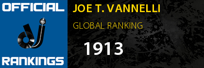 JOE T. VANNELLI GLOBAL RANKING