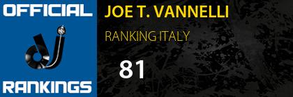 JOE T. VANNELLI RANKING ITALY