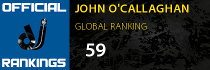 JOHN O'CALLAGHAN GLOBAL RANKING
