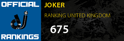 JOKER RANKING UNITED KINGDOM